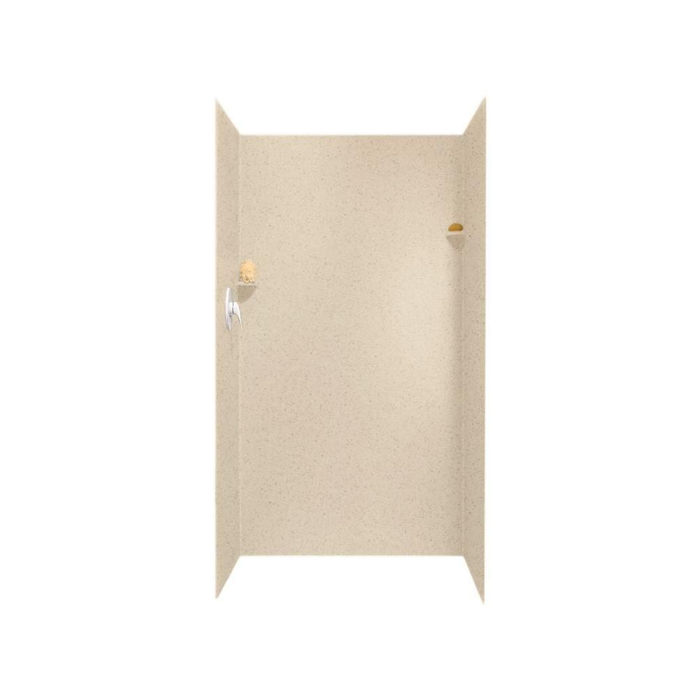 Swan 36 In X 36 In X 72 In 3 Piece Easy Up Adhesive Shower Wall