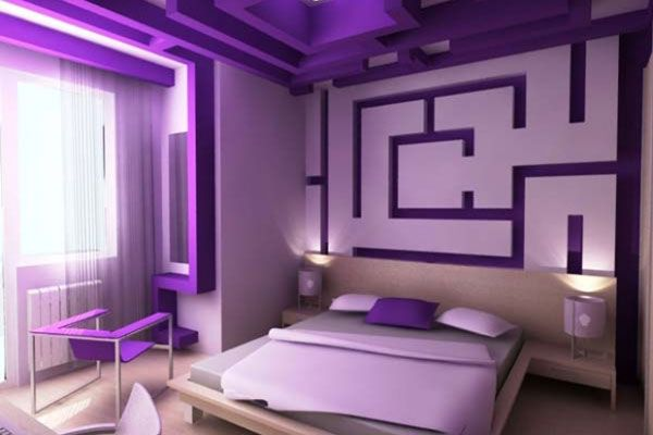 The Light And Bold Purple Mix Well Together It's A Cool Classy Light Purple Bedrooms Minimalist Decoration