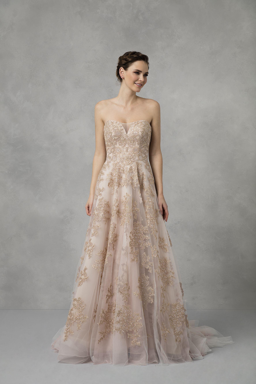 Wedding dress under 500  Strapless Blush ALine Wedding Dress  Colour Blush  Style No