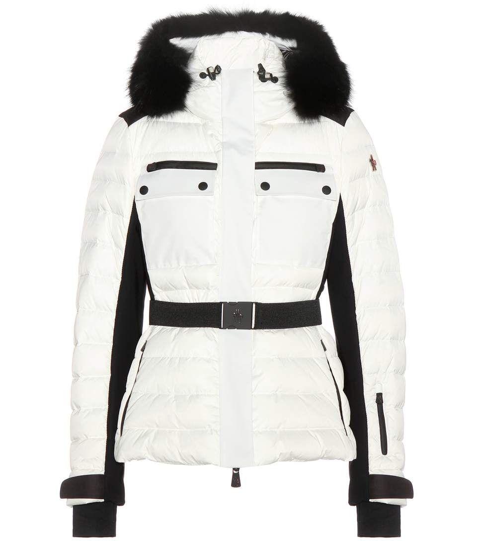 mytheresa - veste doudoune avec col fourrure - luxe et mode
