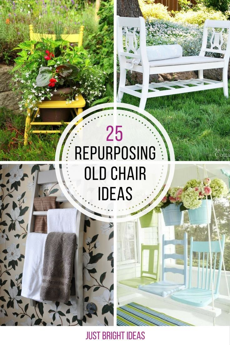 Loving These Ideas For Repurposing Old Chairs Thanks Sharing