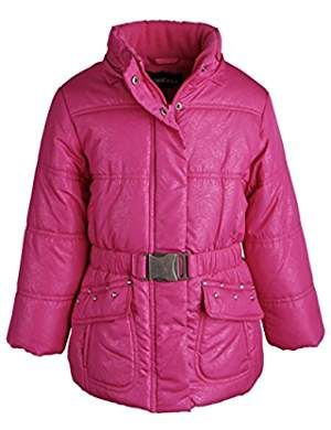 b7f0eba7d6d4 Rothschild Little Girls Down Alternative Fleece Lined Puffer Bubble ...