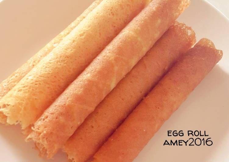 Resep Egg Roll Yg Enak Dan Renyah Oleh Amei Resep Resep Cemilan Kue Gulung