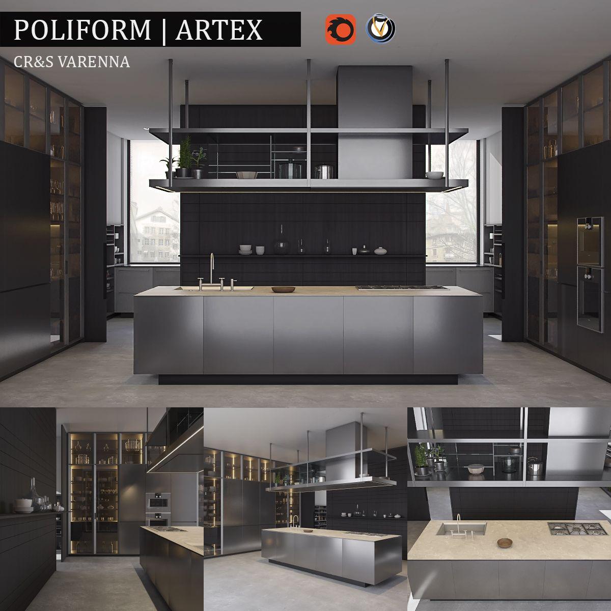 Kitchen Design Rendering: Kitchen Varenna Artex