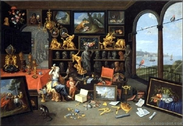 jan van kessel l ancien cabinet d amateur avec v nus sa toilette 1679 home decor. Black Bedroom Furniture Sets. Home Design Ideas