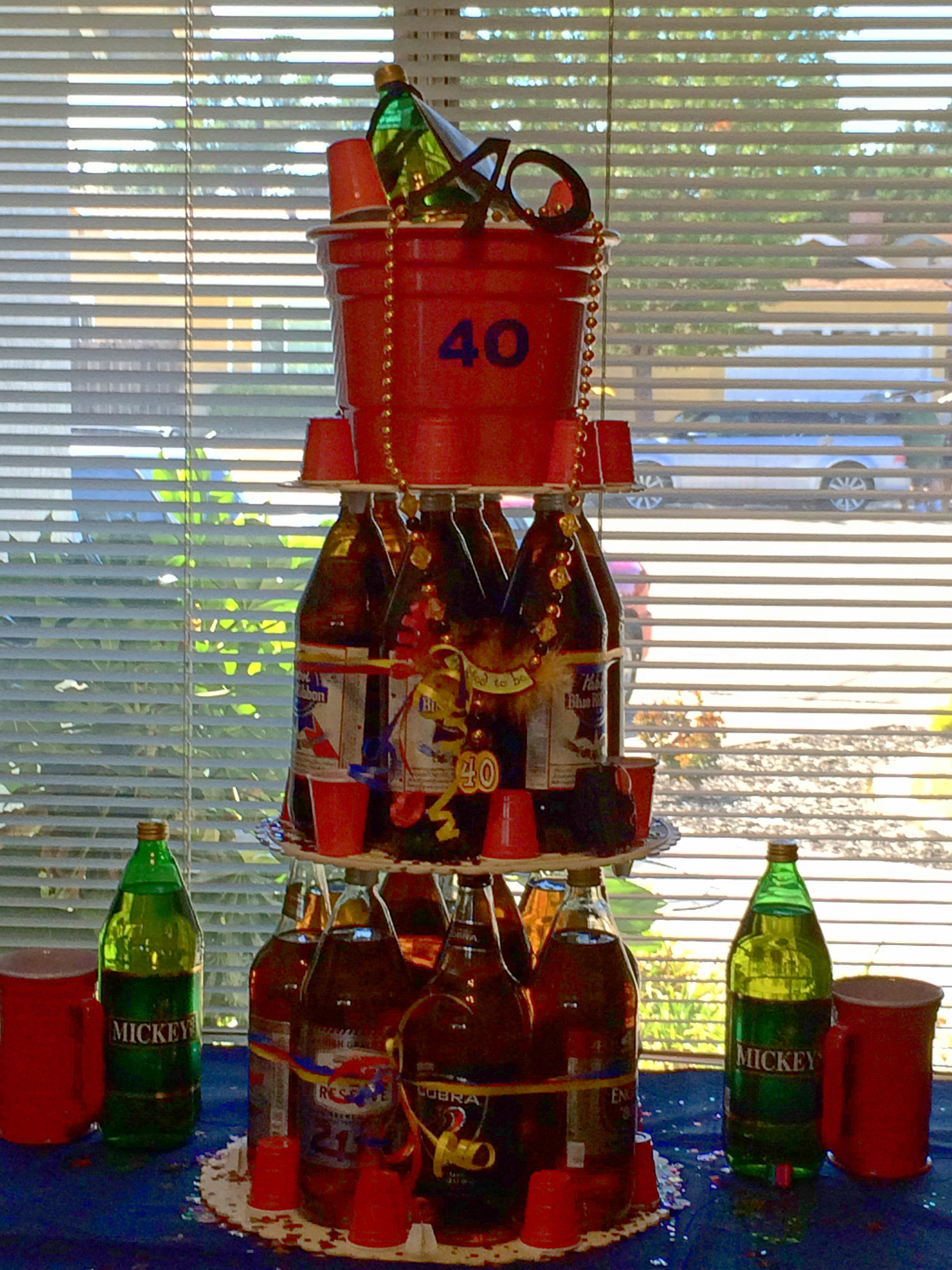 40oz Beer Cake For 40th Birthday 40 40 Rico S 40th In