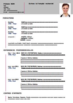 Telecharger Cv Word Bonnet Resume Sample Resume Et Resume