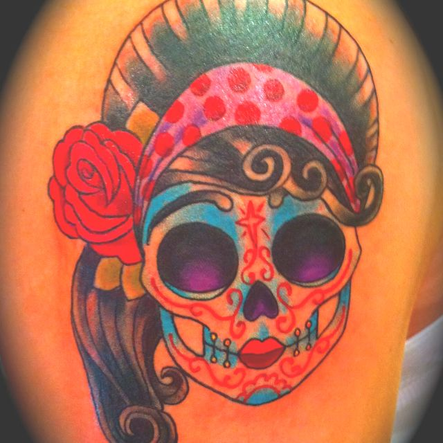 Sugar Skull girl tattoo