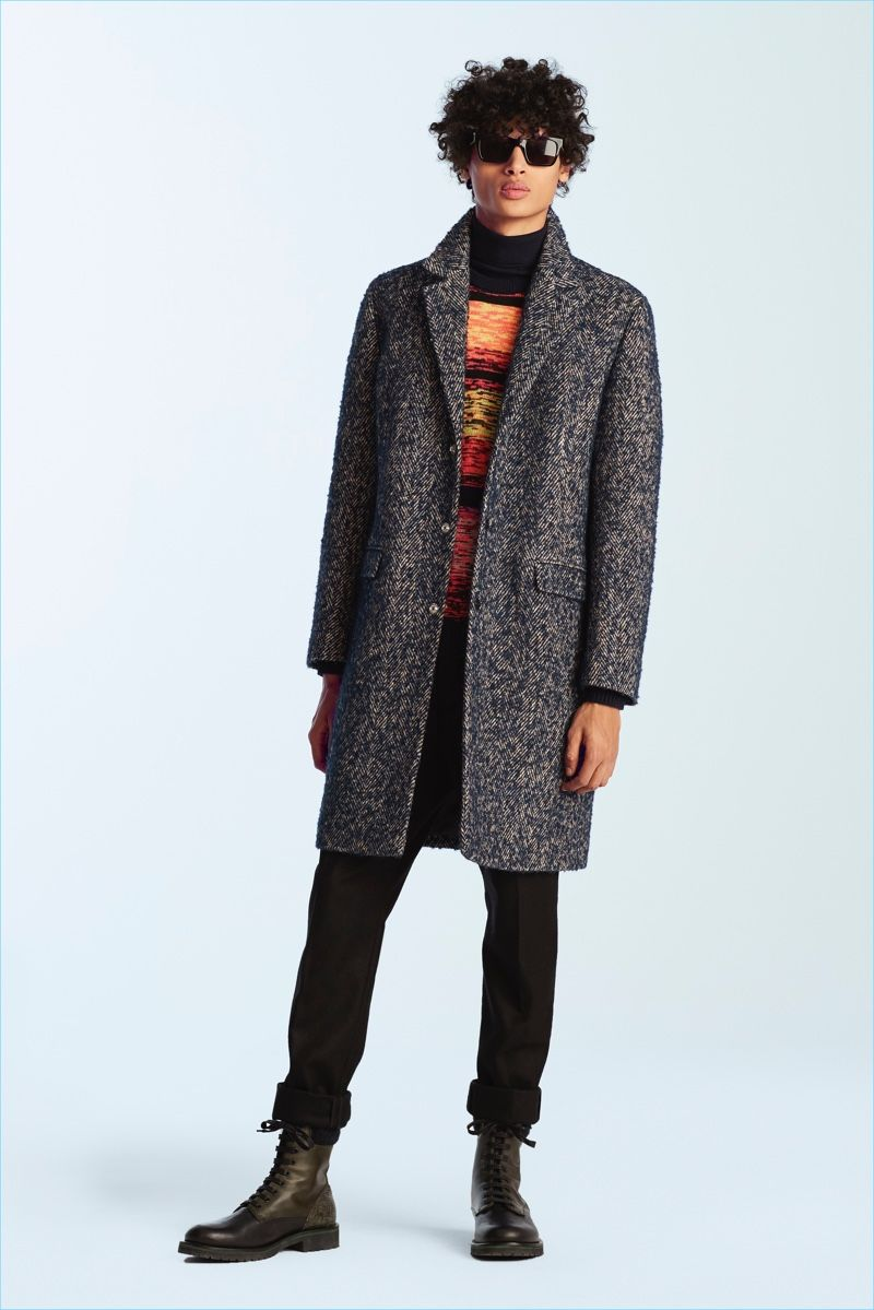 James Long Revisits Fun Iceberg Motifs For Fall 17 Collection Fall Outfits Men Fall Trends Outfits Leather Outerwear [ 1199 x 800 Pixel ]