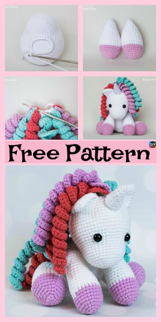 Cute Crochet Unicorn Amigurumi Free Patterns Crochet Crochet