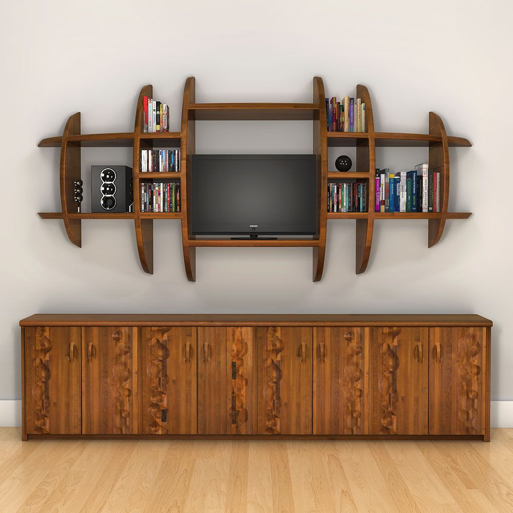 Librero de centro de entretenimiento sala pinterest - Libreros de madera modernos ...