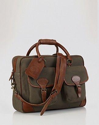 2b7ff390adbd Polo Ralph Lauren Canvas   Leather Commuter Bag