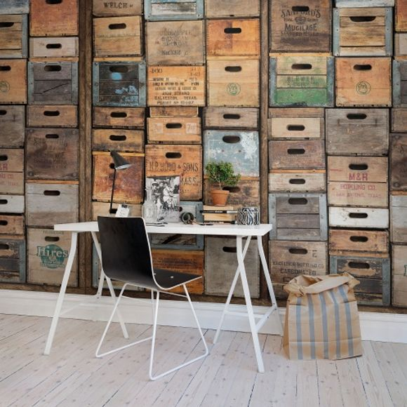panneau industriel urban farm l a industriel papier peint et peindre. Black Bedroom Furniture Sets. Home Design Ideas