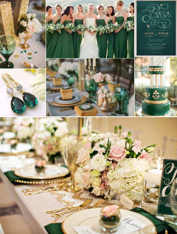 Emerlad Green And Gold Wedding Ideas