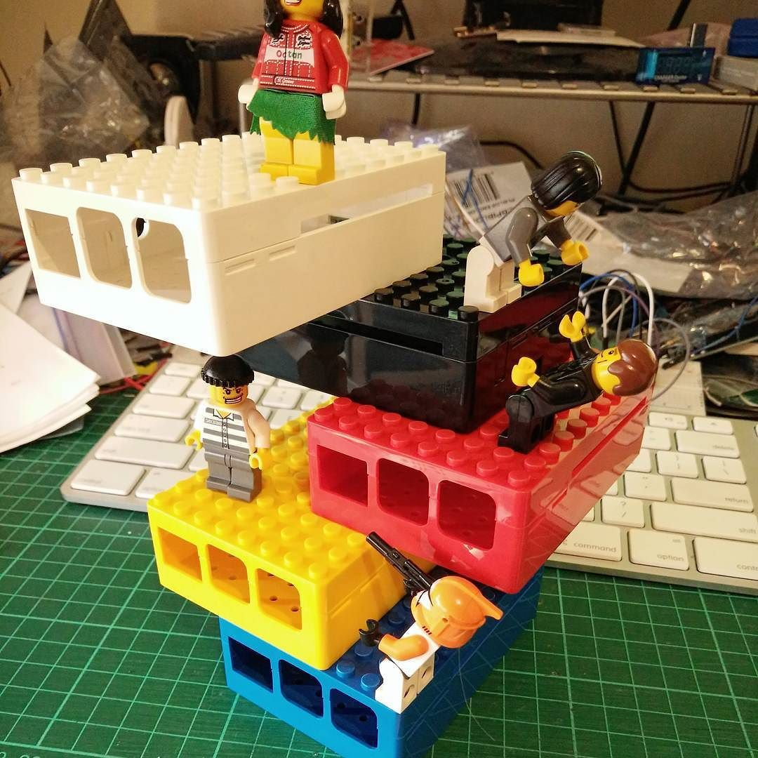 Something we loved from Instagram! LEGO-compatible Raspberry Pi cases now in stock at tronixlabs.com #raspberrypi by tronixlabs Check us out http://bit.ly/1KyLetq
