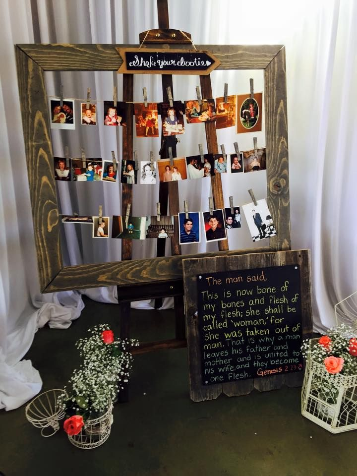 Wedding Picture Board Photo Display Clothespin Picture