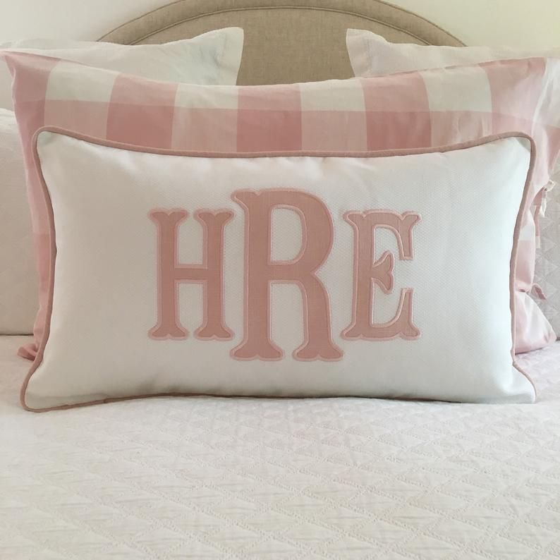 Applique Monogram Pillow Cover In 2020 With Images Monogram Pillows Monogram Bedding Kid Room Decor