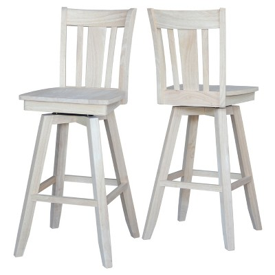 30 San Remo Swivel Counter Stool Unfinished International