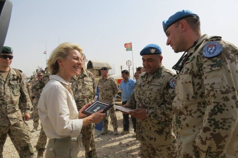 Armenian Peacekeepers With German Defense Minister In Afghanistan