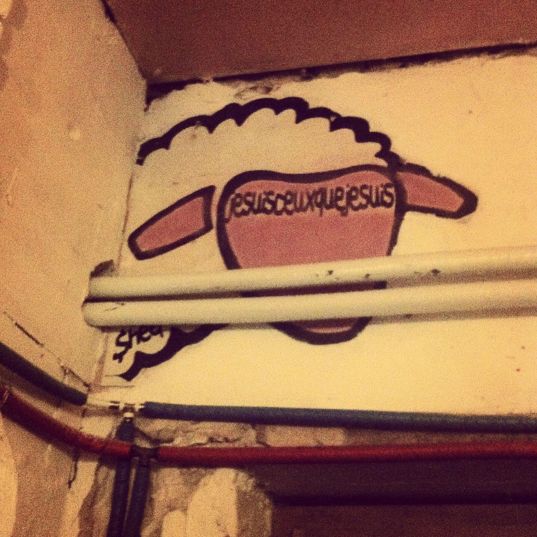 The Sheepest. Graffiti. Szimpla Kert, Budapest