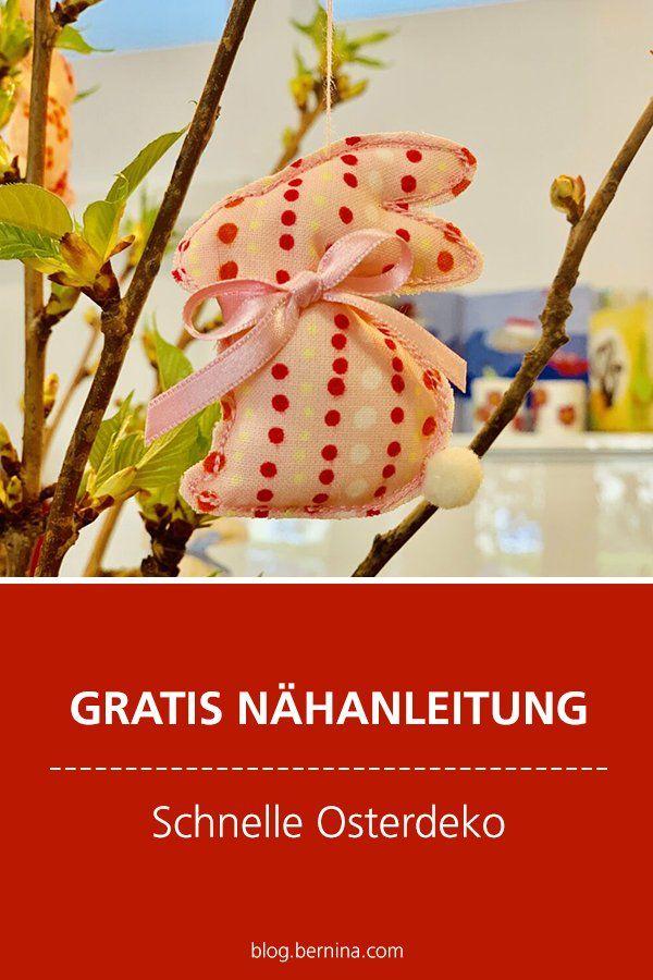Photo of Kostenlose Nähanleitung: Schnelle Osterdeko – Hasen zum Aufhängen