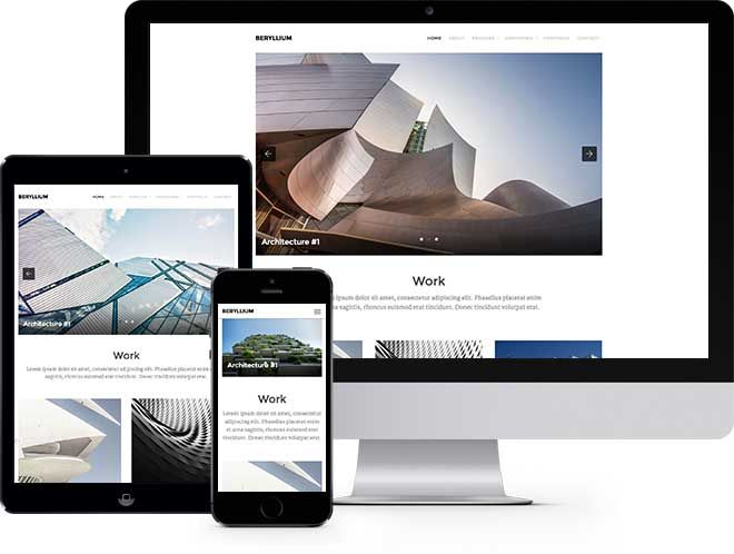 Beryllium: Free Website Template Using Bootstrap for Architect ...