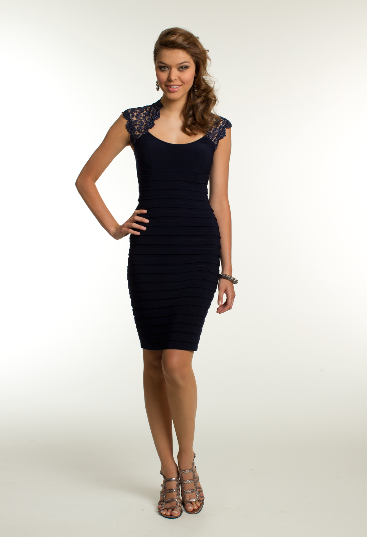 Short Metallic Lace Dress by Camille La Vie & Group USA | IF WE TOOK ...