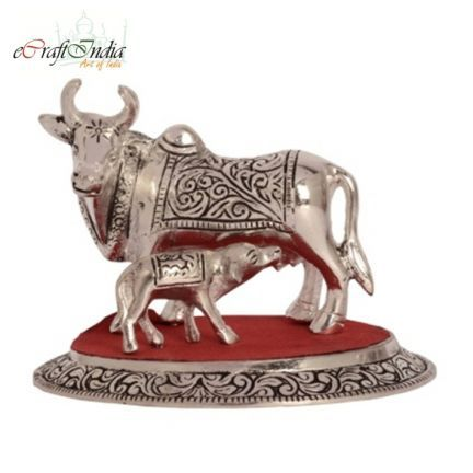 Ecraftindia While Metal Cow And Calf Offers2go Metal