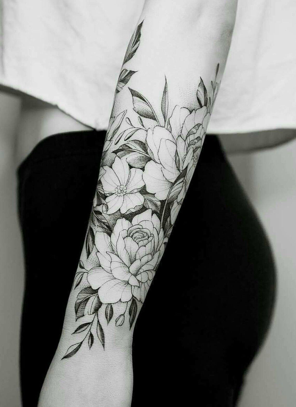 Flower Sleeve Tattoo Forearm: Idea By Vanessa Gadsby On Tattoos
