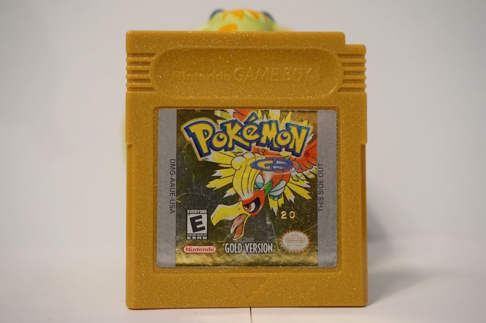 Pokemon Gold Version Game Boy Color Gbc New Battery Nintendo 2000 Usa Gold Pokemon Gameboy Pokemon Project