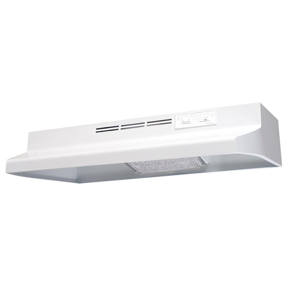 Air King Ad 30 In Under Cabinet Ductless Range Hood With Light In White Ad1303 The Home Depot Ductless Range Hood Recirculating Range Hood Range Hood