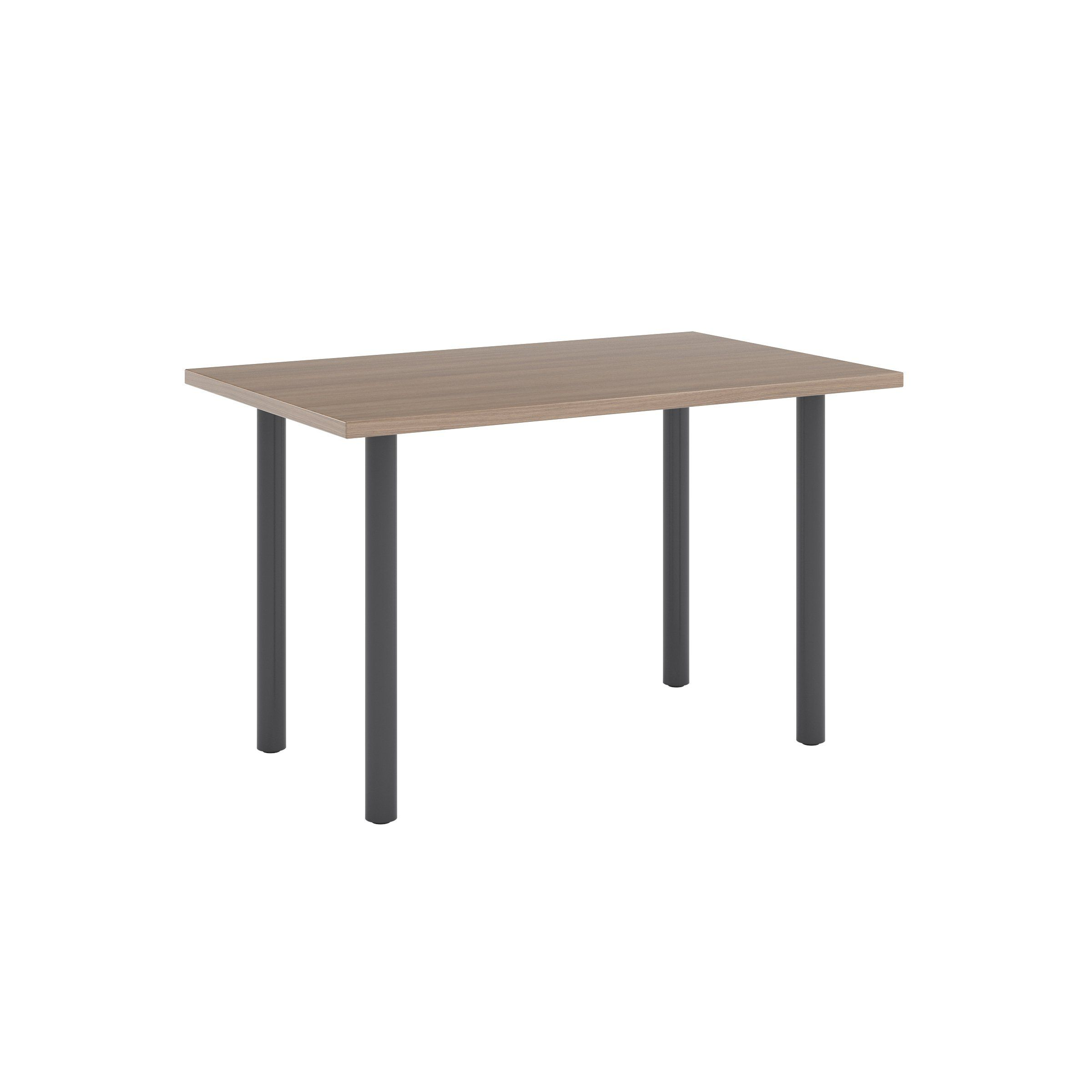 Photo of Jive Desk with Post Leg Base – 30D x 48W / Neo Walnut / Char…