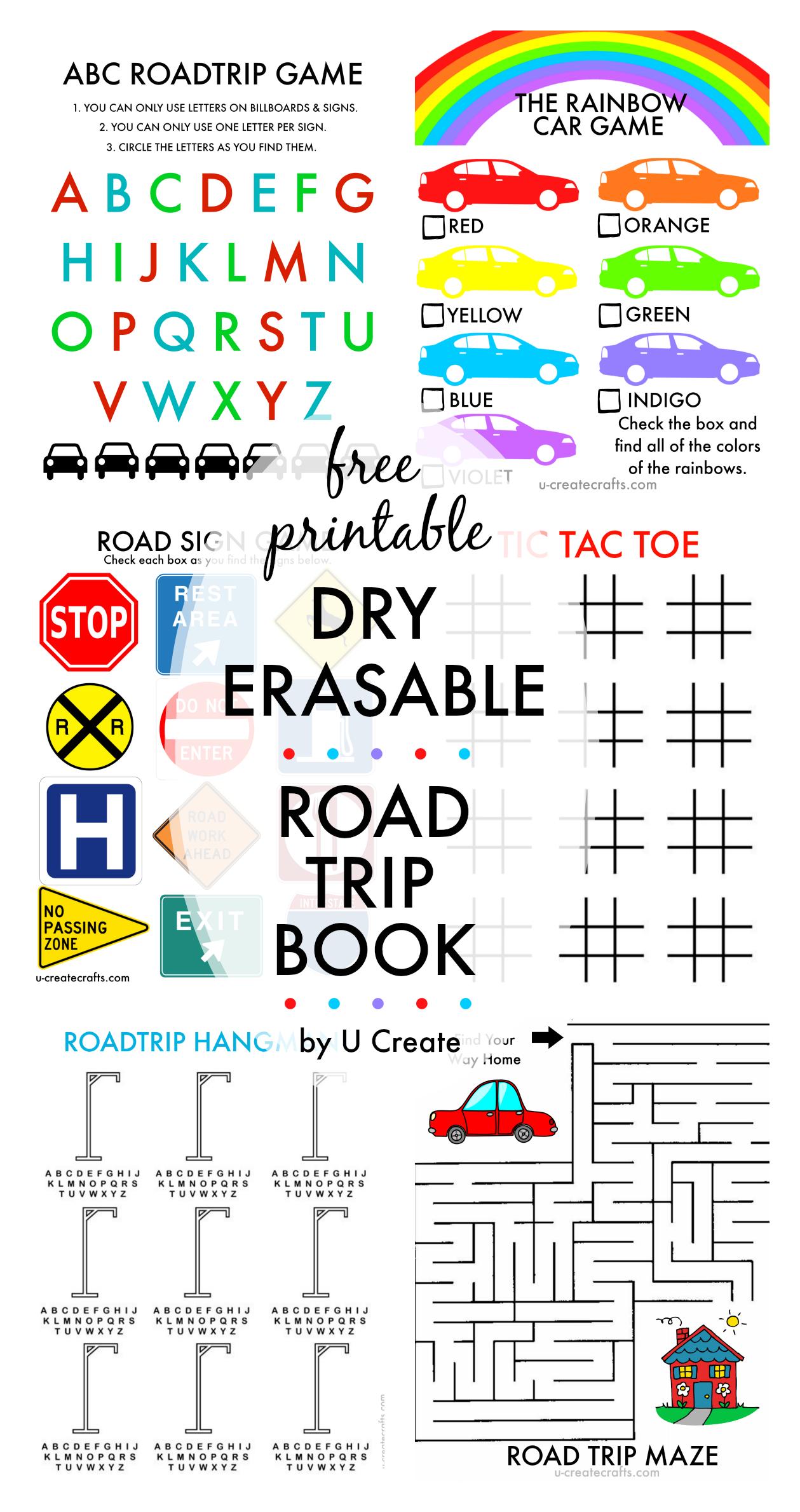 Free Printable Road Trip Book