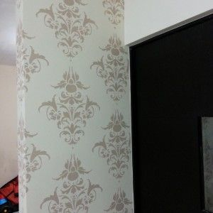 Plantillas decorativas para pintar y decorar paredes como - Como hacer plantillas para pintar paredes ...