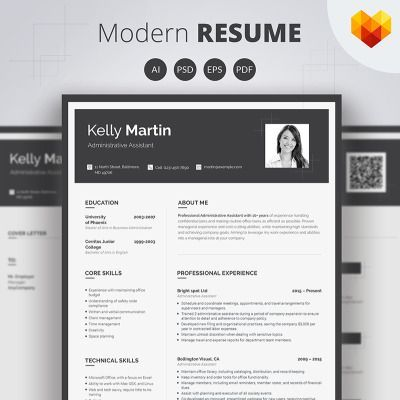Kelly Matin - Administrative Assistant Resume Template Pinterest - resume zapper