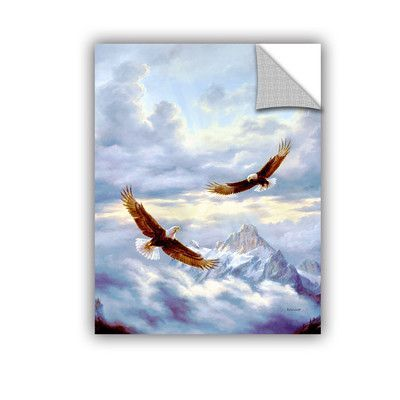 "ArtWall Spirits Of The Wind Wall Mural Size: 48"" H x 36"" W x 0.1"" D"
