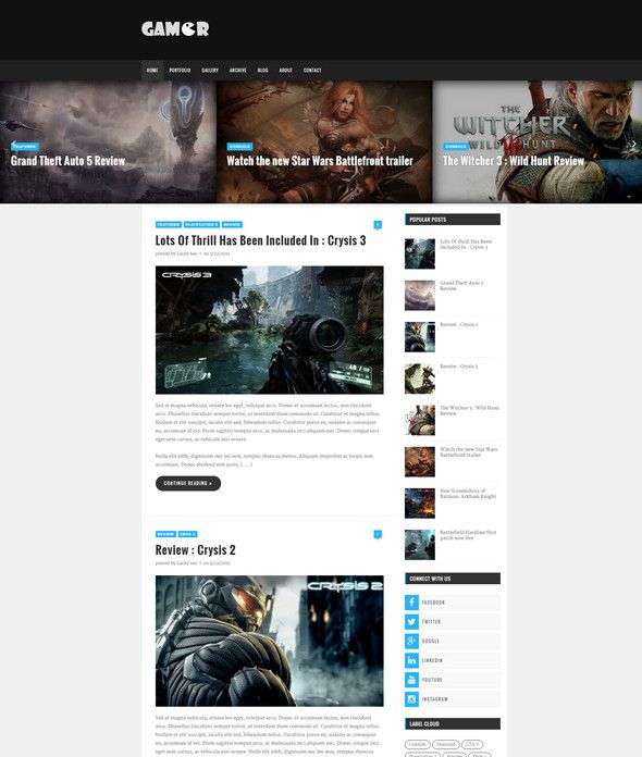 65+ Best Free Responsive Blogger Templates 2018 | Template, Mobile ...