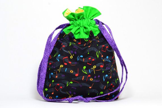 **Made to Order Item!**  This is one special bag!! It is a handmade drawstring bag is made from 100% cotton fabric and is fully lined with a