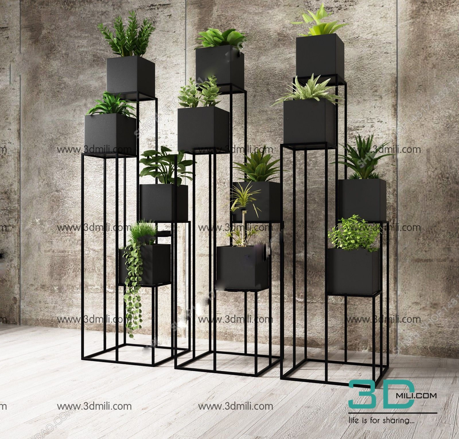315. Plant 3dsmax Model Free Download Home decor, Decor