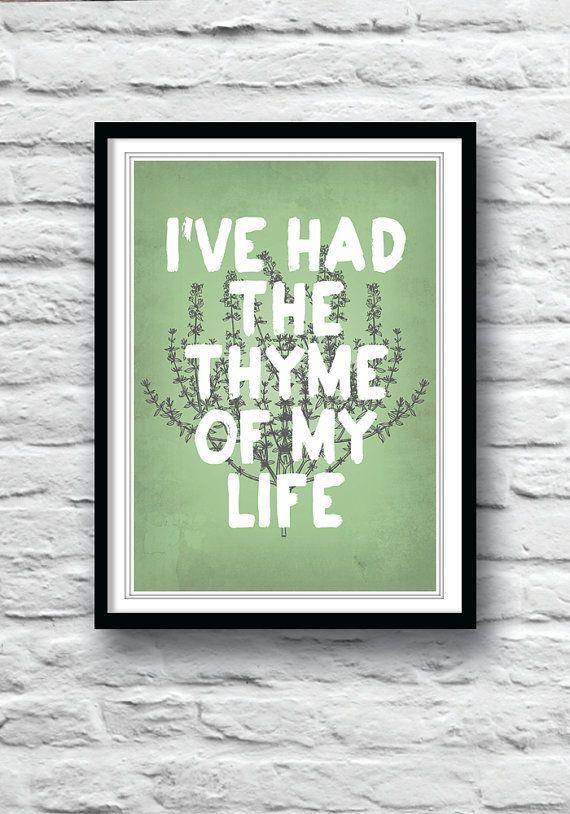 Superbe Kitchen Art, Dirty Dancing, Movie Poster, Wall Decor, Kitchen Poster, Art  Print, Illustration, Kitchen Herbs