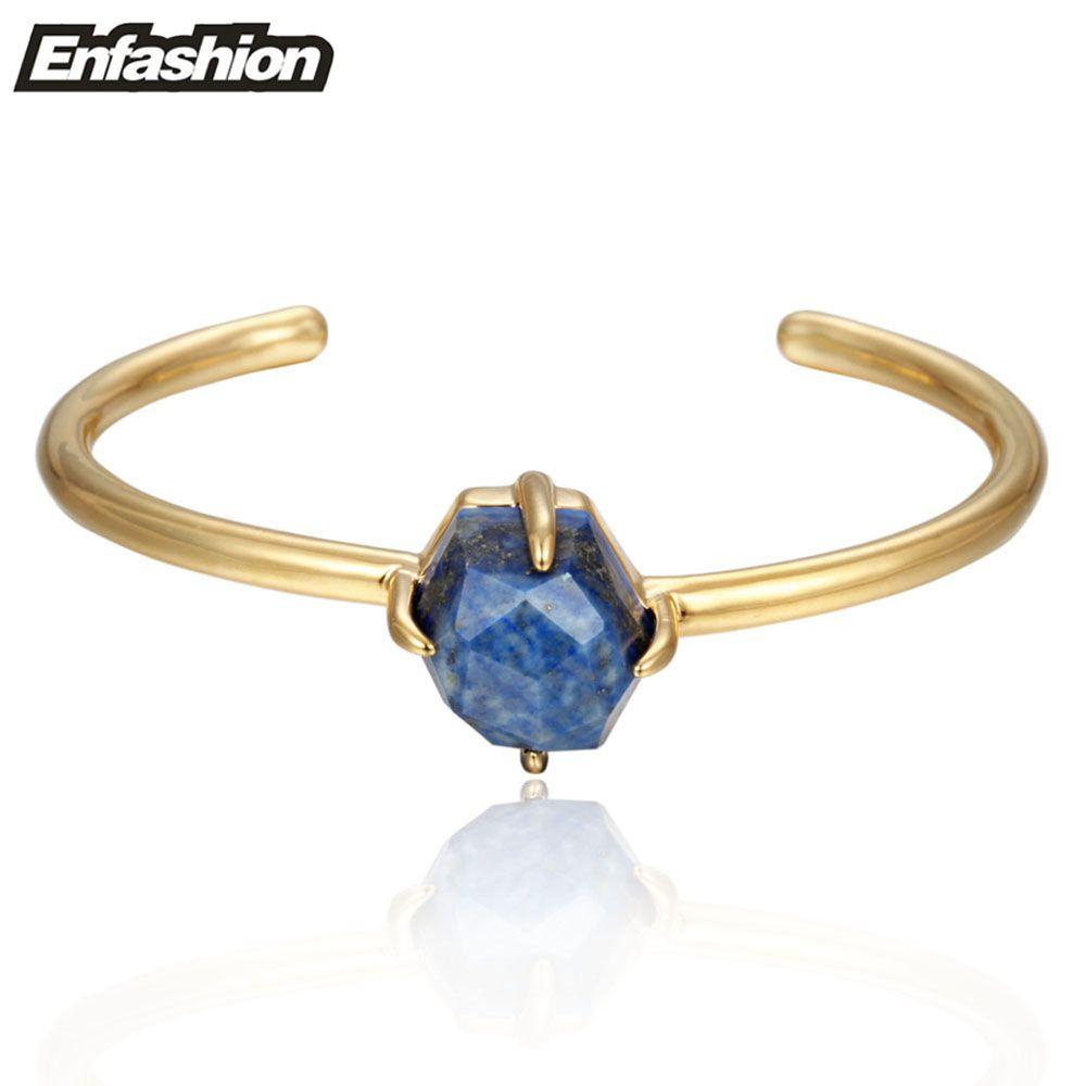 Enfashion zodiac bracelet crystal birthstone cuff bracelet gold