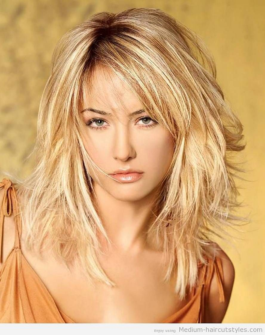 Medium Hairstyles Layers Shoulder Length Hairstyles Brown Layered Hairstyles With