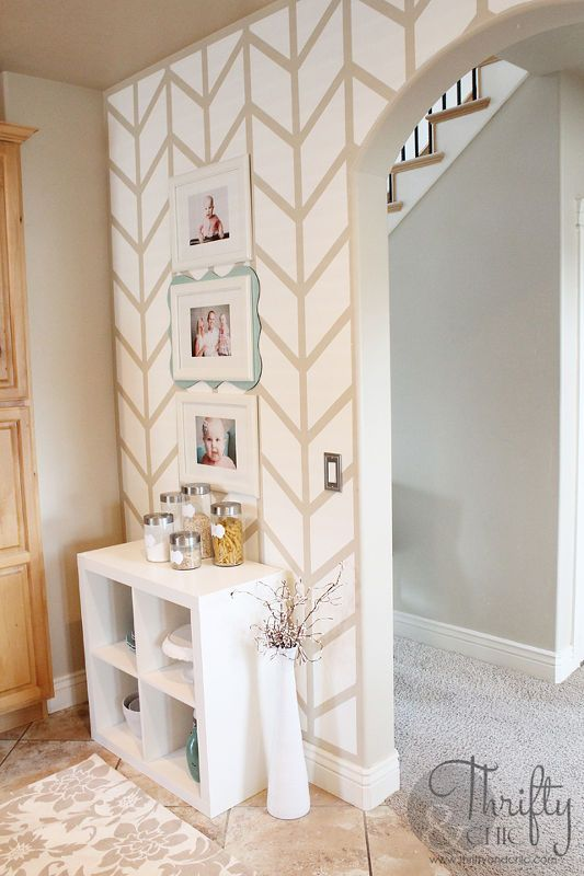 Herringbone Pattern Accent Wall Herringbone, Paint colors and Home