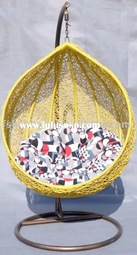 Outdoor Design, Outdoor Papasan Chair And Rattan Hanging