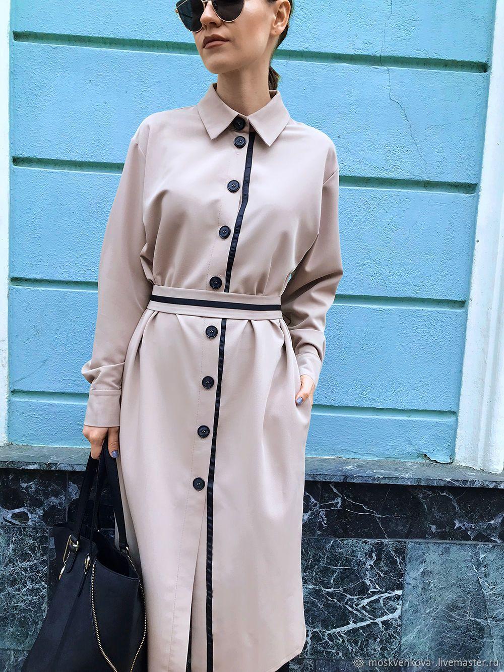 33bdef1c68a1eb0 Платье-рубашка с репсовой лентой – купить в интернет-магазине на Ярмарке  Мастеров с доставкой - GODRLRU | Москва