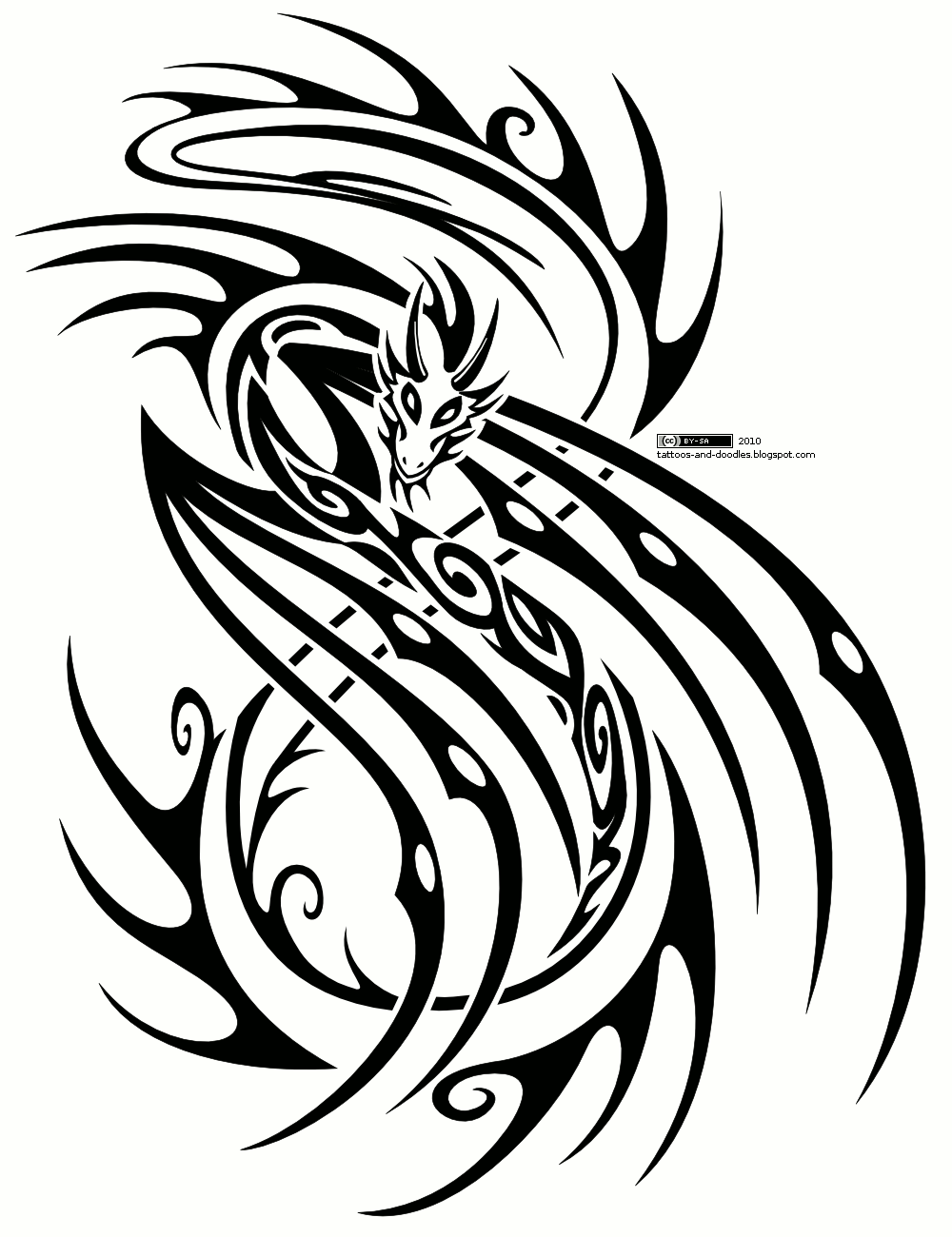 Tattoos And Doodles November 2010 Tribal Dragon Tattoos Tribal Tattoos Tribal Tattoo Designs