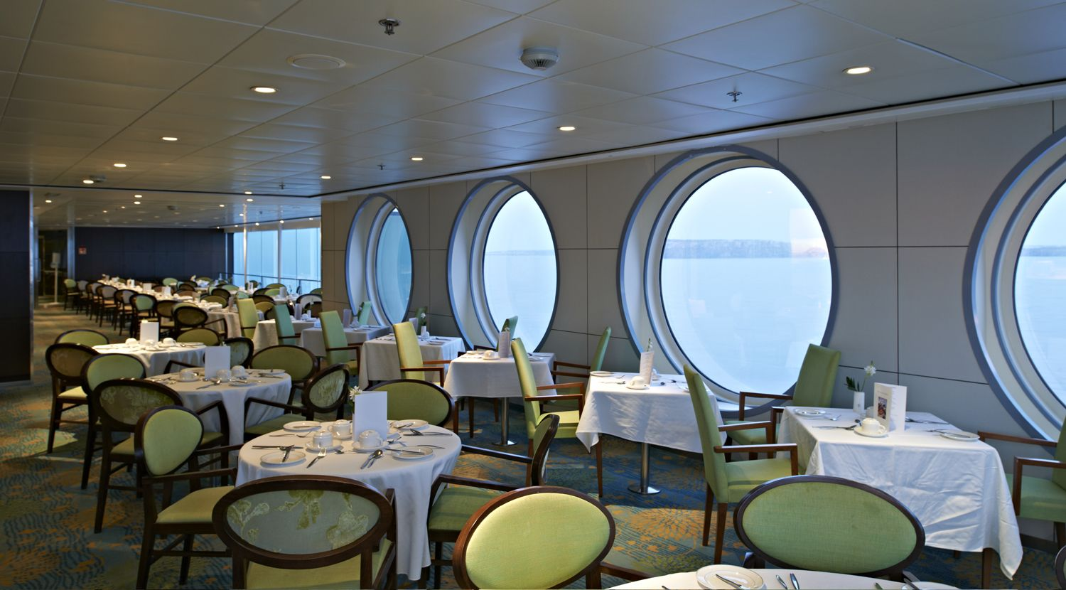 The Avon Restaurant On Board Balmoral Has Been Tastefully Designed