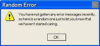 Funny Error Messages Computer Humor Error Message Funny Messages
