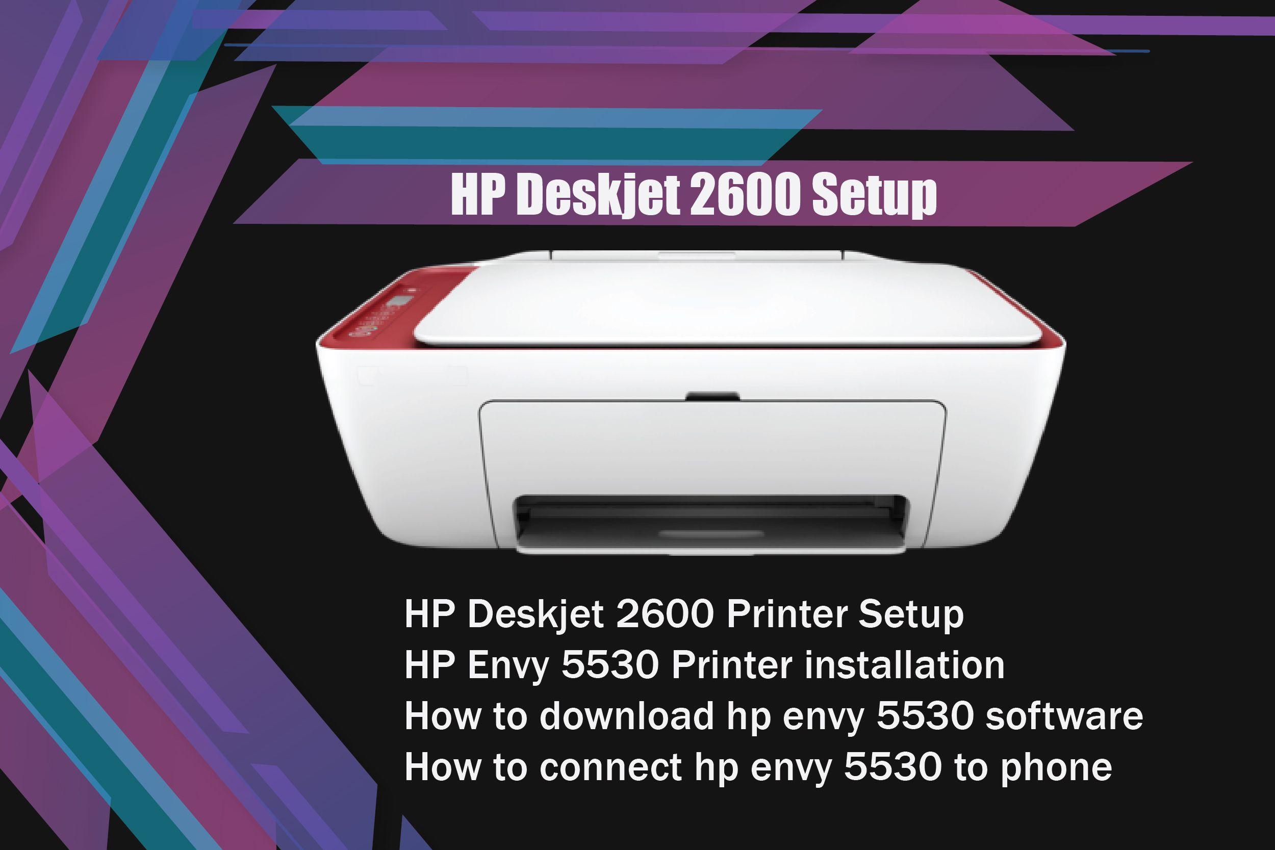 Hp deskjet 2600 setup and install