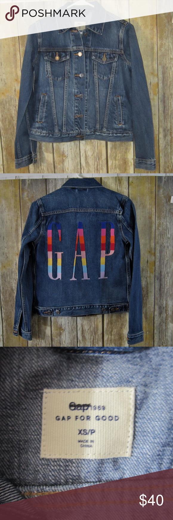 Gap 1969 Icon Crazy Denim Jean Jacket Sz Xs Petite Gap 1969 For Good Icon Crazy Jean Jacket Embroidered Multicolor Gap Logo On Crazy Jeans Gap Jacket Gap Logo [ 1740 x 580 Pixel ]